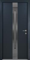 Стальная линия дверь ХАСКИ С УЗКИМ ОКНОМ (HUSKY) энергосберегающая дверь для коттеджа