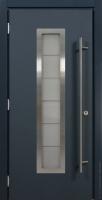 Стальная линия дверь ХАСКИ PRO С ОКНОМ (HUSKY PRO) энергосберегающая дверь для коттеджа