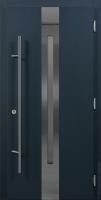 Стальная дверь ХАСКИ PRO С УЗКИМ ОКНОМ (HUSKY PRO) энергосберегающая дверь для коттеджа