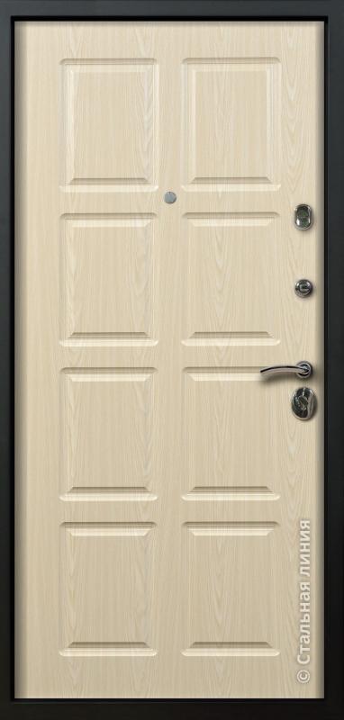 """Входная дверь """"Оксфорд"""" Стальная линия"""